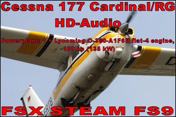 Cessna 177 Cardinal HD-Audio