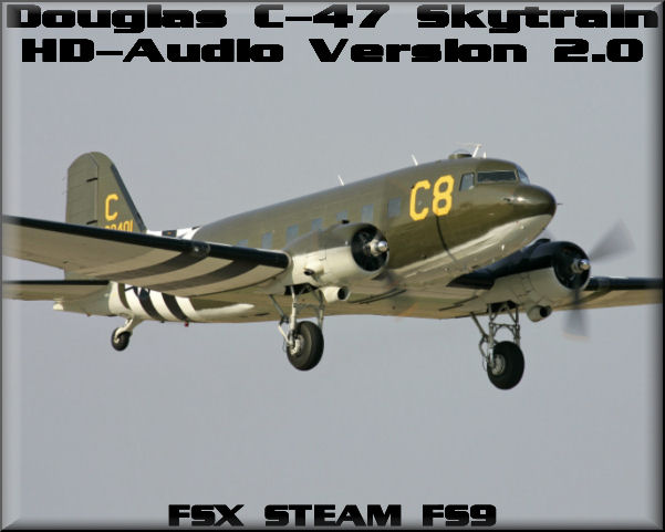 Douglas C-47 HD-Audio Version 2.0