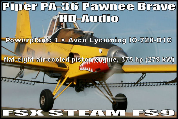 Piper Pawnee-36 Ag HD-Audio