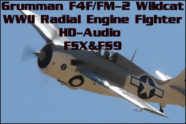 Grumman F4F/FM-2 Wildcat HD-Audio FSX&FS9