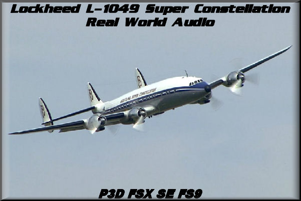 Lockheed L-049 Constellation Real World Audio